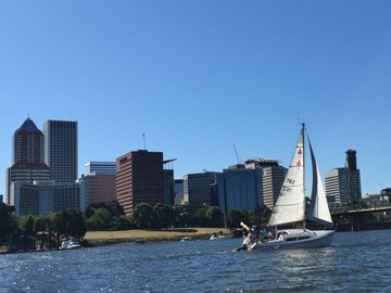 Booking (trips, etc.): 90 minute Portland Sailing Tour for two