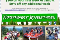 Booking (trips, stays, etc.): Northwest Adventures Summer Camp