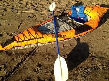 Renting: Quality Inflatable Kayak with Paddle + Lifevest