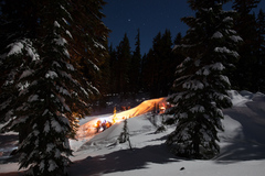 Booking (trips, etc.): Bonfire Snowshoe Tour
