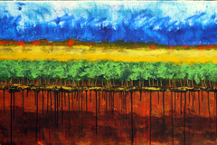 Free: Abstract Vineyard Paintings at Anam Cara Cellars