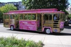 Varies: Big Pink Hop-On Hop-Off Trolley
