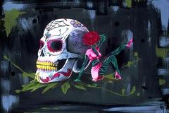 Selling: Vida Y Muerte. Acrylic on Canvas