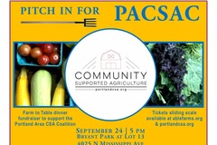Selling: Pitch in for PACSAC (Portland Area CSA Coalition) Fundraiser