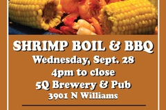 Varies: Shrimp Boil & Brewers BBQ