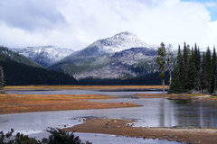 Booking (trips, stays, etc.): Sparks Lake at Mt. Bachelor in Central Oregon