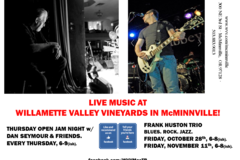 Free: Live Music at Willamette Valley Vineyards in McMinnville