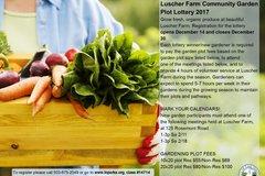 Renting: Luscher Farm Community Garden Plot Lottery