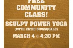 Free: Free Community Yoga Class: Sculpt Power Yoga