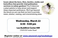 Free: Attracting Garden Pollinators! Free Workshop