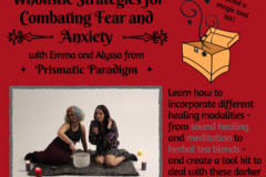 Donation: Wholistic Strategies for Combating Fear and Anxiety