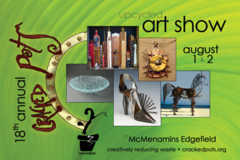 Free: Crackedpots Upcycled Art Show at McMenmanins Edgefield
