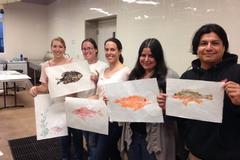 Varies: Fish Printing Workshop: Teens and Adults