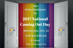 Free: Pride Northwest 2017 National Coming Out Day (NCOD)