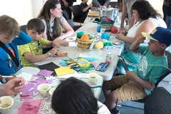 Free: Family Art Day: Textiles and Tie-Dyes