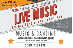 Varies/Learn More: 4th Sunday's at the Heritage Center - Live Music
