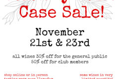Free: Annual Holiday Case Sale @ AniChe Cellars