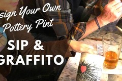 Selling: Sip and Paint Pottery Pints! 1st Wed's at The Rogue Grape
