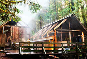 Bagby Hot Springs in Mt. Hood National Forest, Oregon