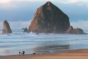 Haystock Rock in Cannon Beach - Oregon Coast Tour