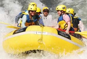 Rafting on the Rouge River in Oregon